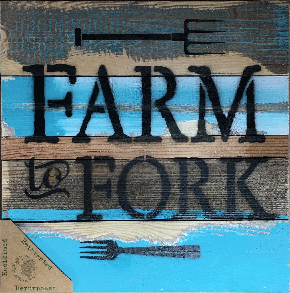 Farm to Fork Wood Wall Decor - Cool Breeze 10-in