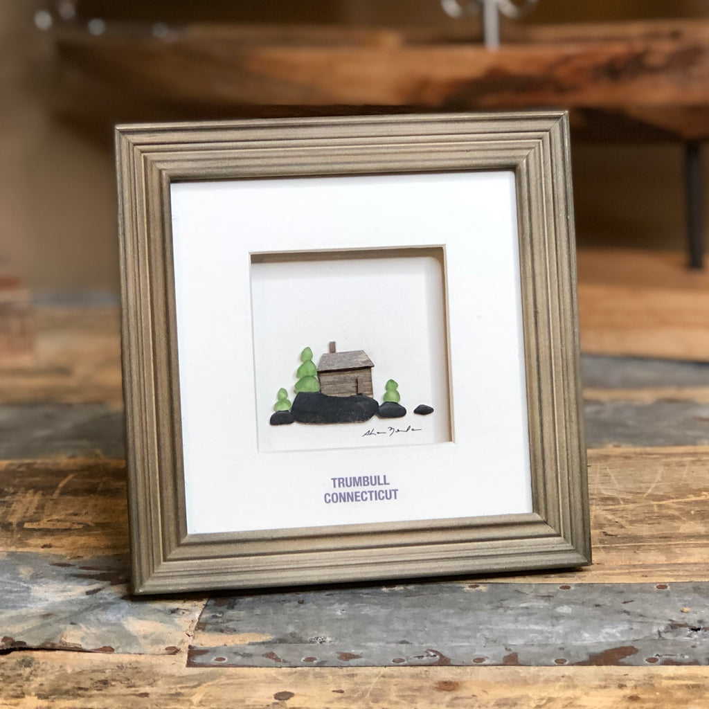 "Sharon Nowlan Limited Edition - Cabin ""Trumbull, Connecticut"" Wall / Shelf Art - 5-1/2-in"