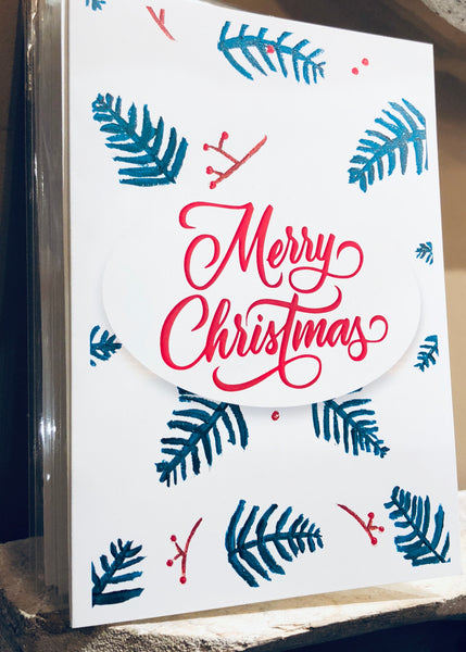 Merry Christmas Trees Greeting Card