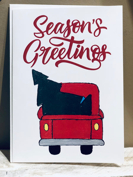 Holiday Truck Greeting Card