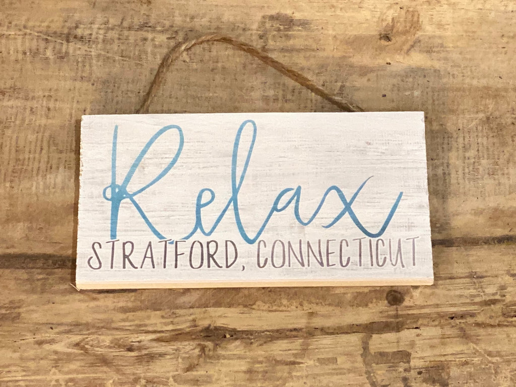 Relax - Stratford, Connecticut - Mini Hanger 6-1/2-in