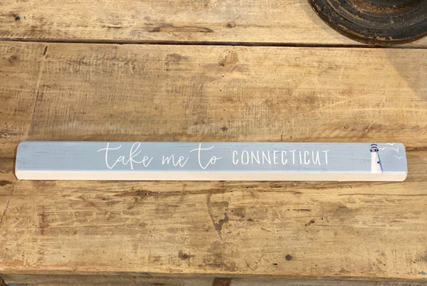 Take Me To Connecticut - Lighthouse - Talking Stick 16-in