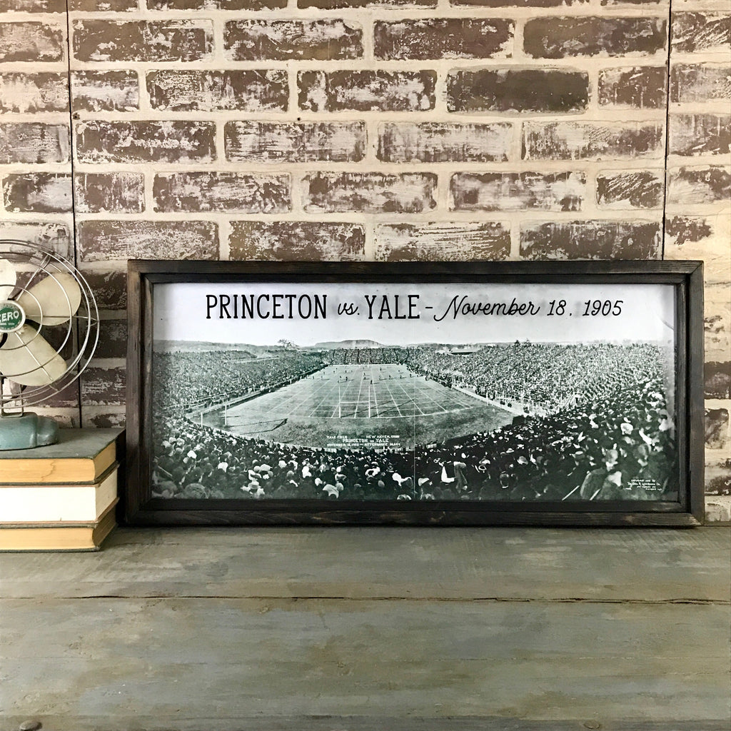 Princeton vs Yale 1905 At Yale Field New Haven - Reproduction Photo in Framed Shadowbox 35-in