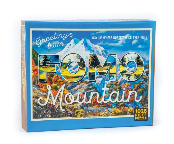Greetings From FOMO Mountain - Way Up Where Nobody Will Ever Visit - Jigsaw Puzzle - 1026 Pieces