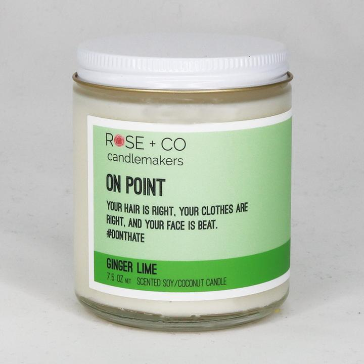 On Point - Ginger Lime Scented Soy Coconut Candle - 7-1/2-oz