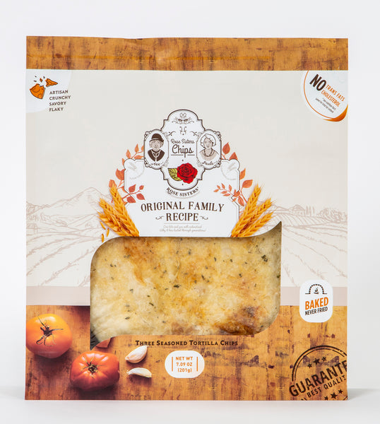 Rose Sisters Chips - Artisan Baked Seasoned Tortilla Chips - Made in Bridgeport, Connecticut - 7.09-oz Bag