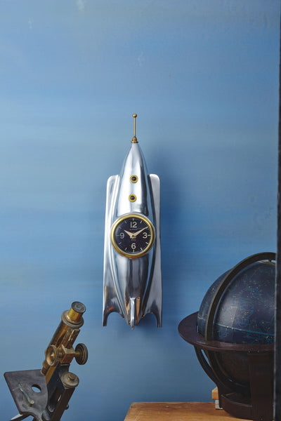Rocket Wall or Desk Clock 17-in
