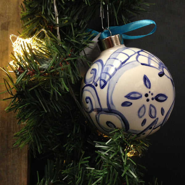SHARD Pottery of Maine - Hand Painted Ceramic Ornament by J. Victoria Rattigan Designs (Seashell) - Mellow Monkey  - 4