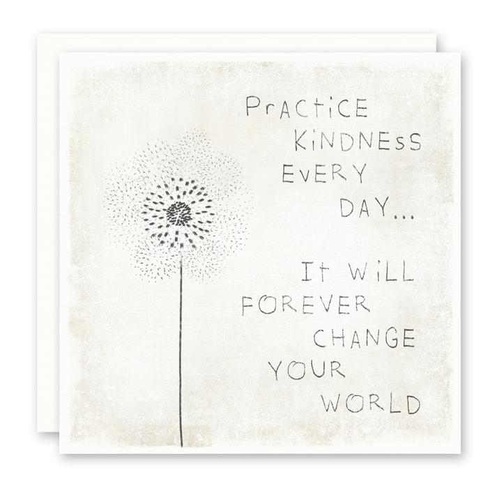 Practice Kindness Greeting Card