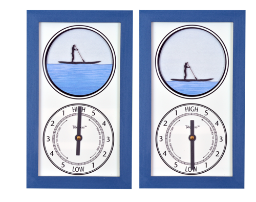 Tidepieces by Alan Winick - Paddleboard Girl Tide Clock