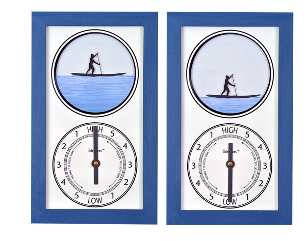 Tidepieces by Alan Winick - Paddleboard Guy Tide Clock