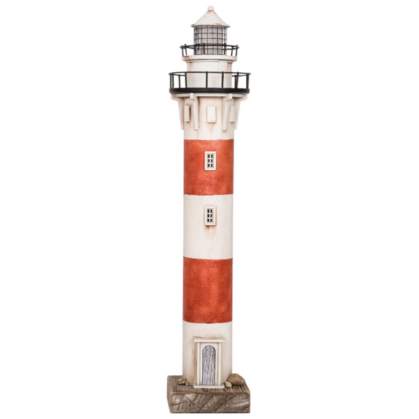 Red and White Tall LED Lighthouse - 19-3/4-in.