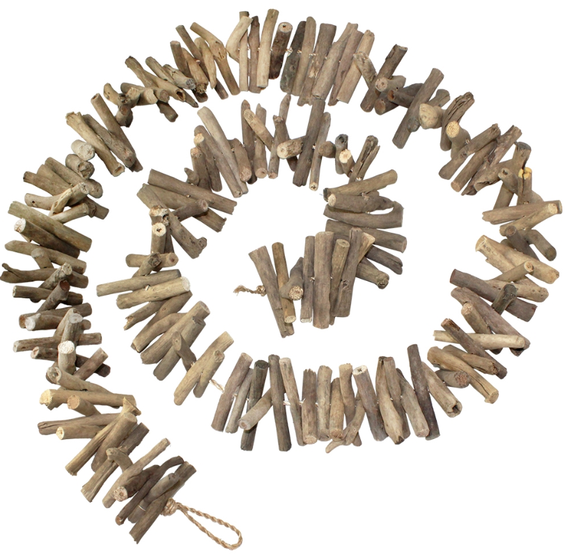 Driftwood Hanging Garland with Starfish End - 72-in
