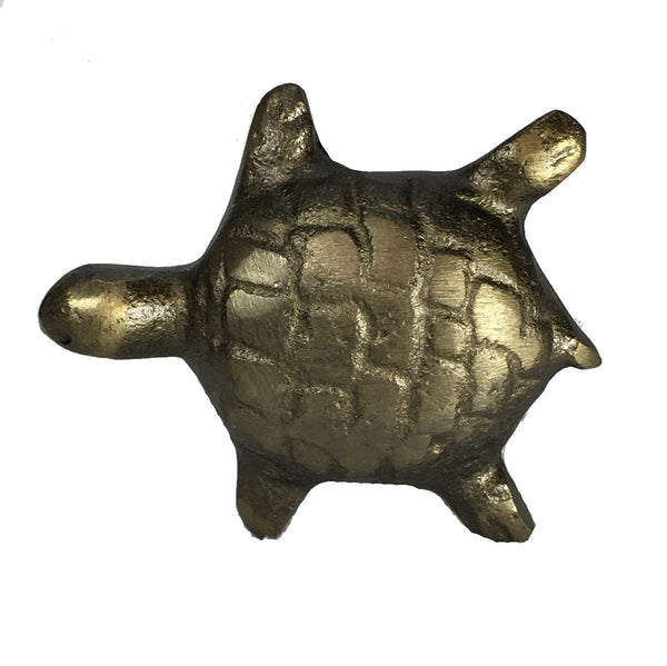 Iron Turtle Metal Drawer Cabinet Cupboard Pull Knob Antique Brass