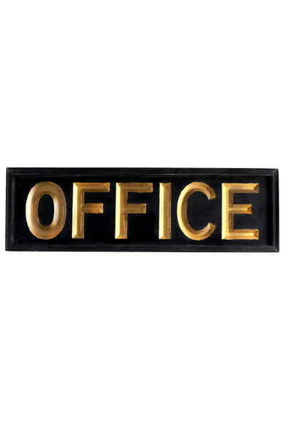 Vagabond Vintage Wooden Office Sign - 32-in - Mellow Monkey  - 2