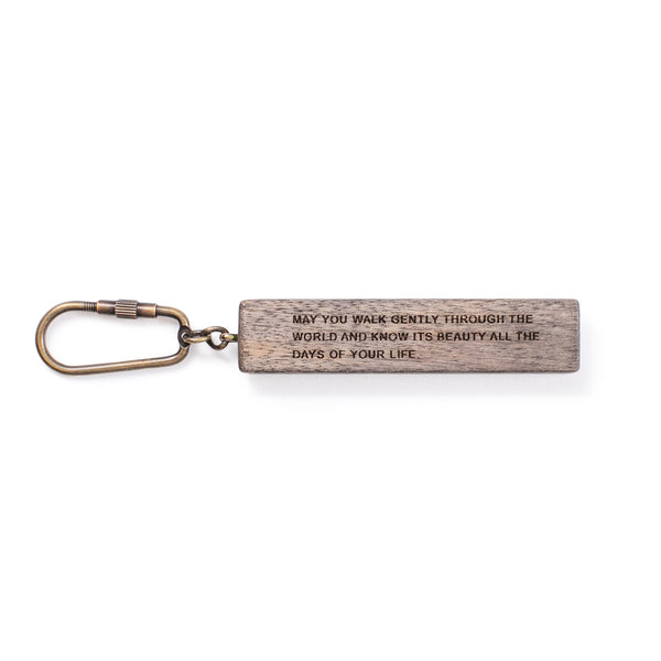 Wood Quote Key Chain
