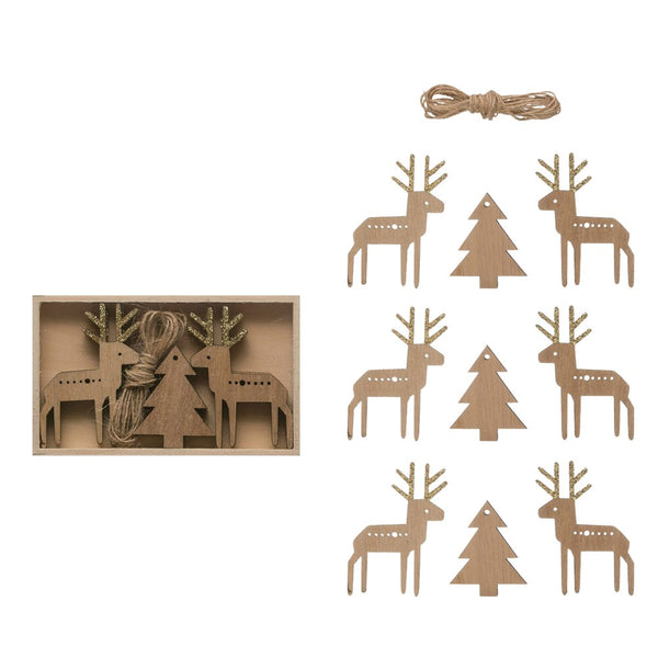 Mini Deer and Evergreen Tree Garland - DIY - 39-in