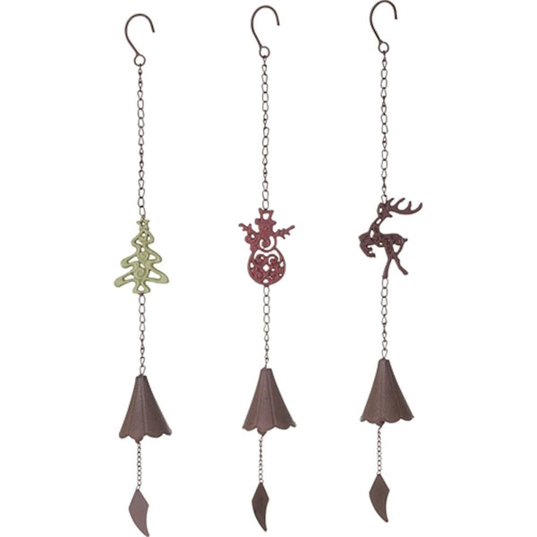 Rustic Metal Christmas Bell Wind Chime - Mellow Monkey  - 1