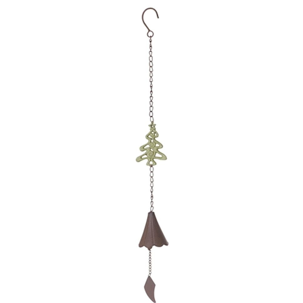 Rustic Metal Christmas Bell Wind Chime - Mellow Monkey  - 4
