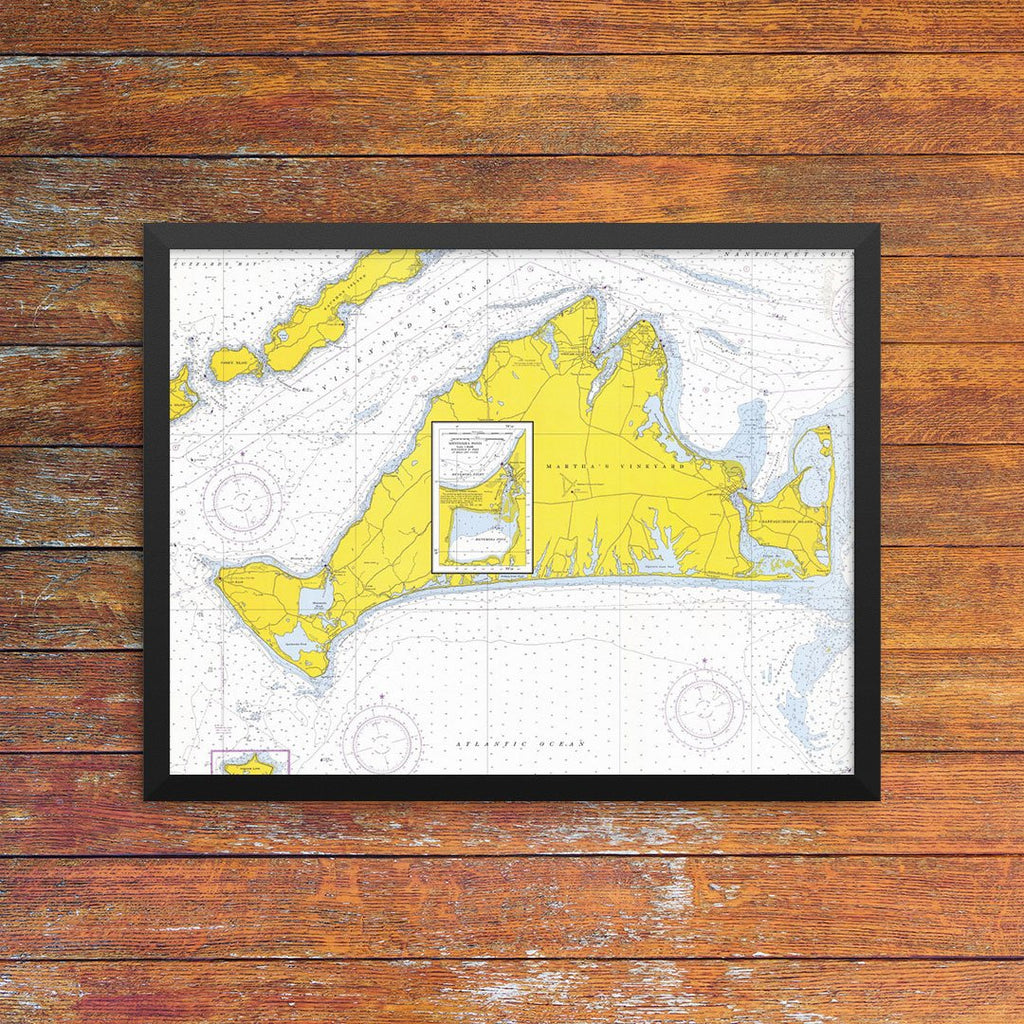 Martha's Vineyard Nautical Chart Greeting Card