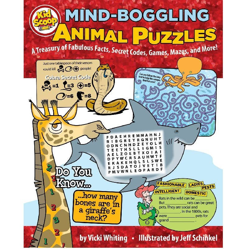 Mind-Boggling Animal Puzzle Book