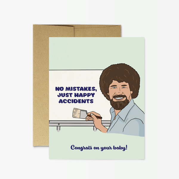 Bob Ross - New Baby Greeting Card