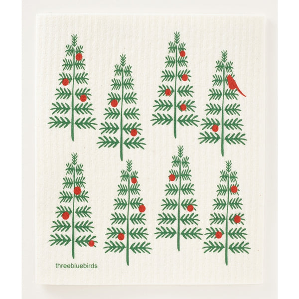 Christmas Trees Swedish Dishcloth - Connecticut Made!