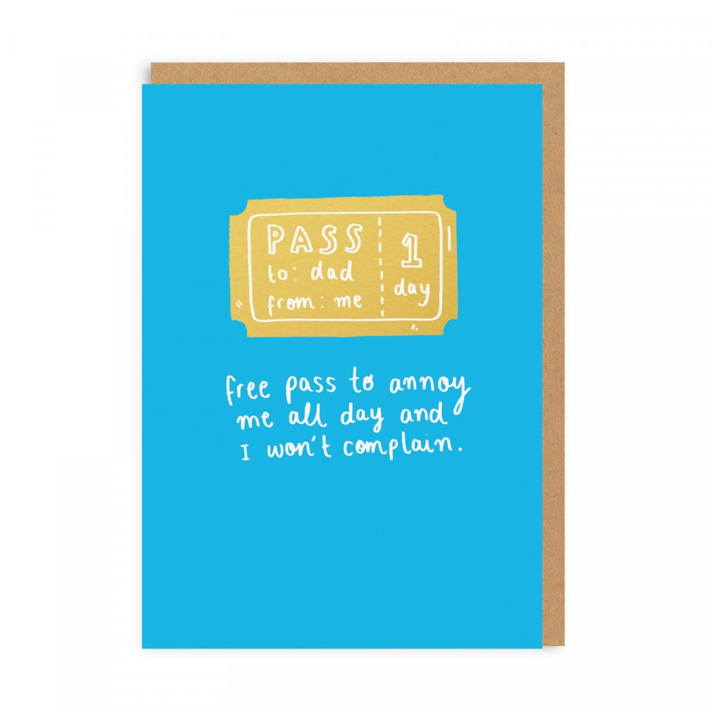 Annoyance Free Pass Father's Day - Greeting Card