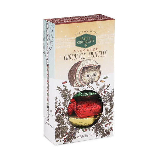Seattle Chocolate - Woodland Hedgehog Assorted Truffles Window Box- 4-oz