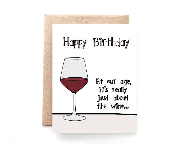 Yellow Daisy Paper Co. - Birthday Wine Card
