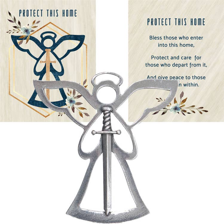 Angel Blessing Ornament - Protect This Home