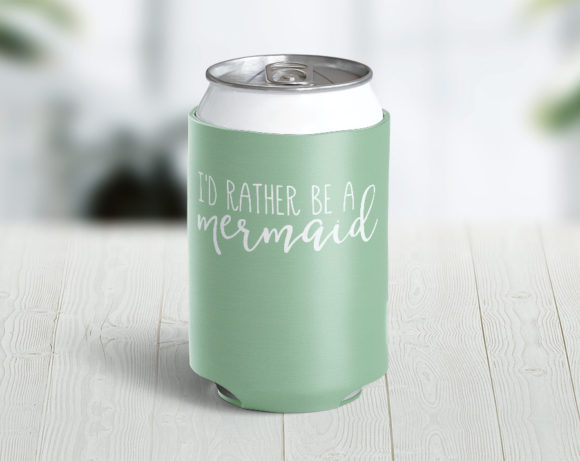 Rather Be A Mermaid Can/Bottle Hugger Cozie