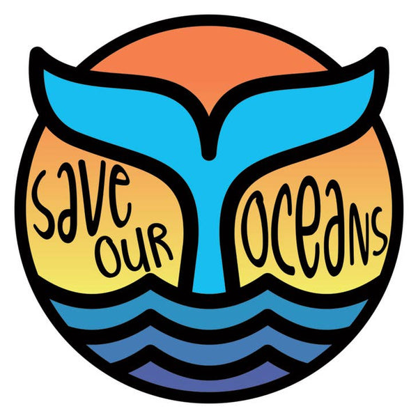 Save Our Oceans Whale - Vinyl Decal Sticker