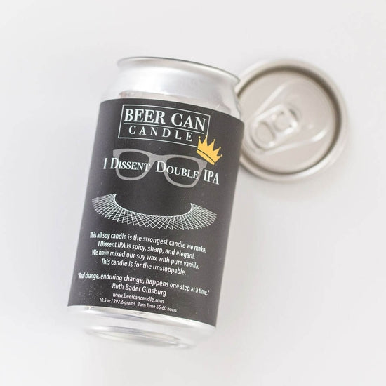 Beer Can Candle - I Dissent Double IPA - 100% Soy Wax Small Batch
