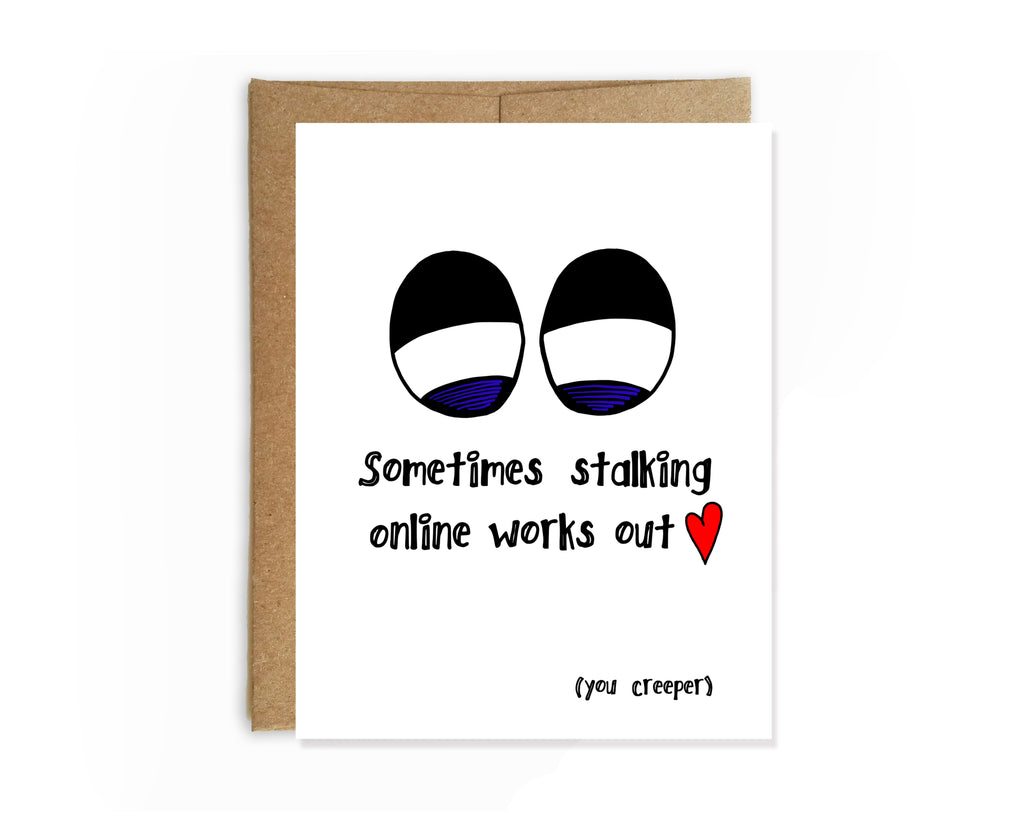Yellow Daisy Paper Co. - Online Creeper Valentine's Day Card