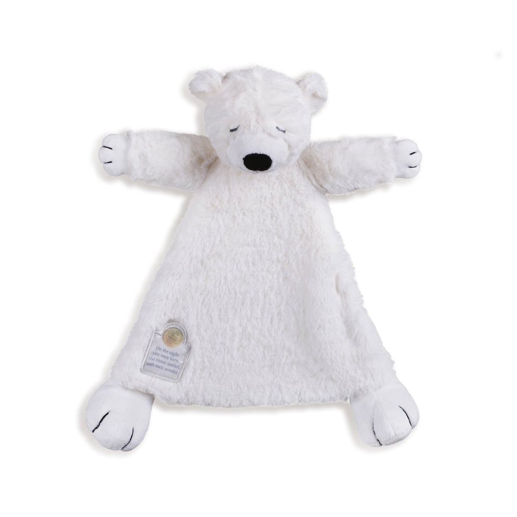 On the Night You Were Born Polar Bear Blankie - 13-in - Mellow Monkey