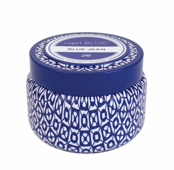 Capri Blue Jean Printed Travel Tin - 8.5-oz