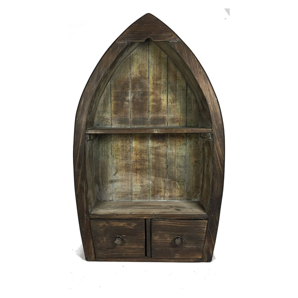 Wooden Wall Mount or Free Standing Canoe Cabinet (Lodge Finish) - 25-3/4-in