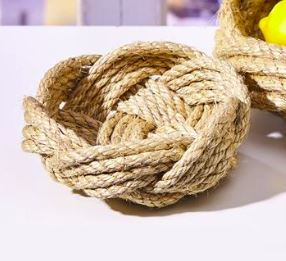 Santorini Thera Jute Rope Bowl