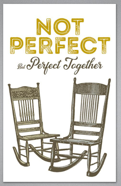 Not Perfect But Perfect Together - Greeting Card
