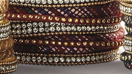 Finishing Touch Embellished Multi Row Magnetic Bracelet 1-1/4-in