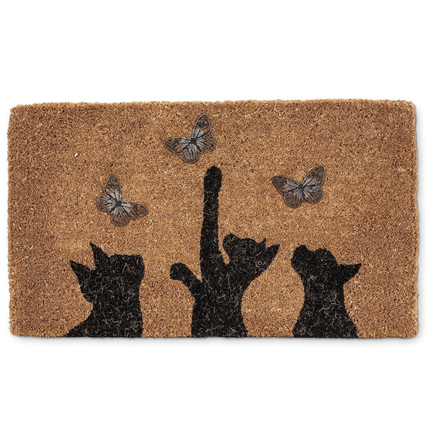Cat and Butterfly | Full Sized Door Mat