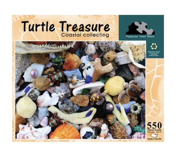 Turtle Treasure Jigsaw Puzzle - Find 18 Hidden Turtles In The Image - 550 Piece