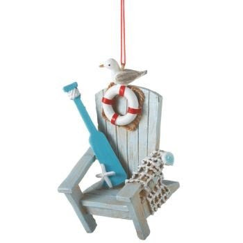 Coastal Adirondack Chair Ornament - Mellow Monkey