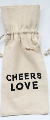 Cotton Wine Bag With Drawstring - 14-in
