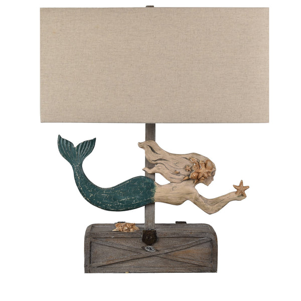 Mermaid Treasure Table Lamp - 26-1/2-in