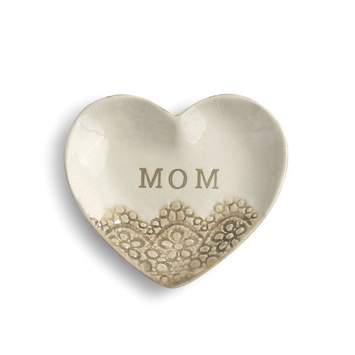Mom Treasure Keeper - Heart Shaped Trinket Dish