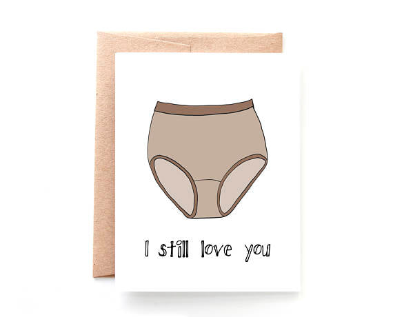 Yellow Daisy Paper Co. - Granny Panties Valentine's Day Card