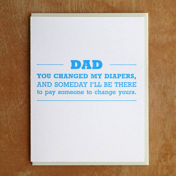 Dad Diapers Father's Day Greeting Card