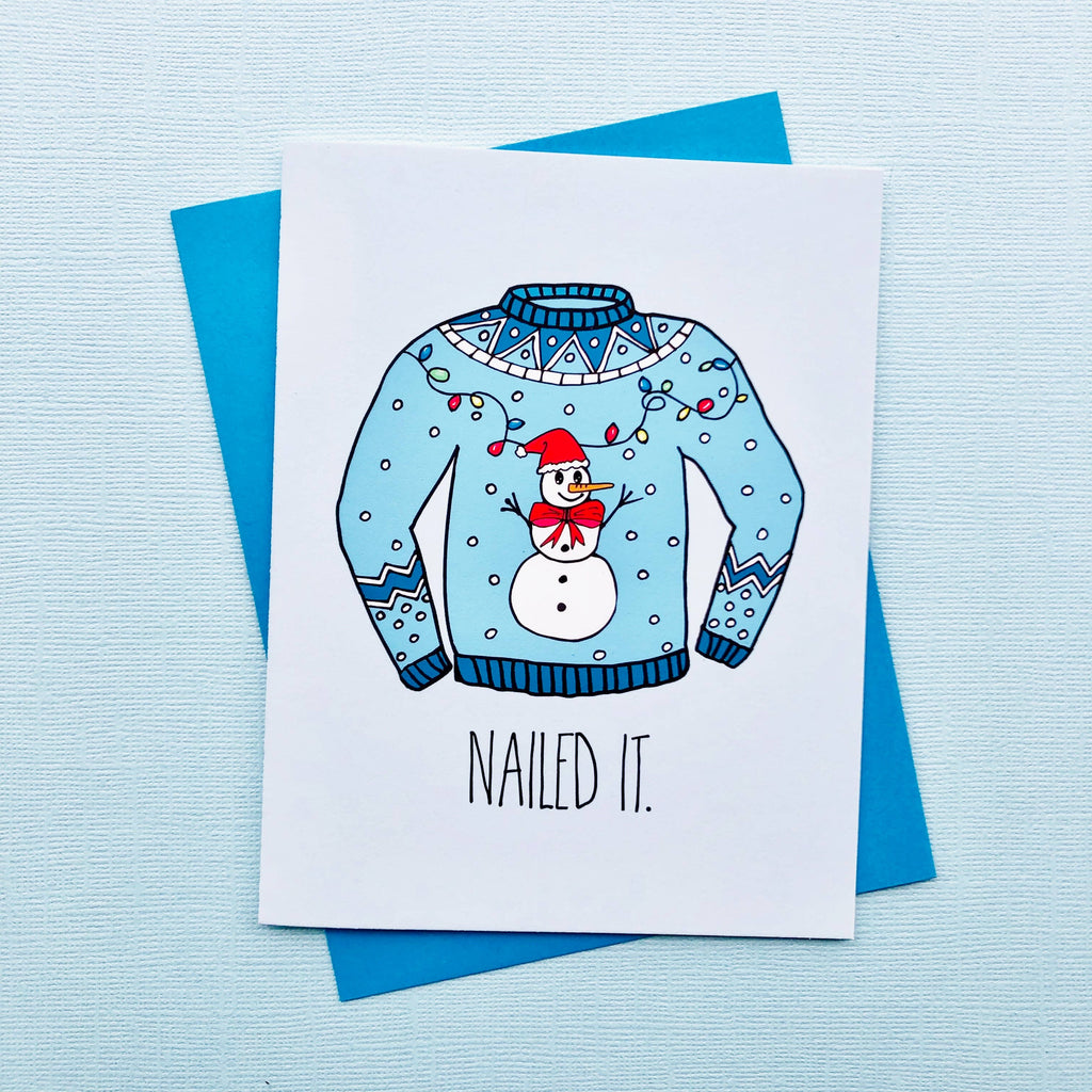 Ugly Sweater - Nailed It! - Holiday Christmas Greeting Card